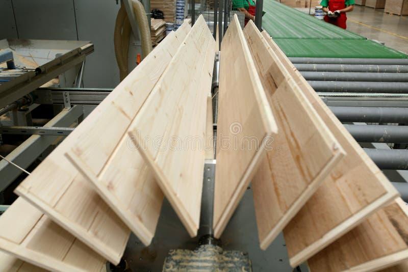 Fábrica del suelo de la madera imagenes de archivo