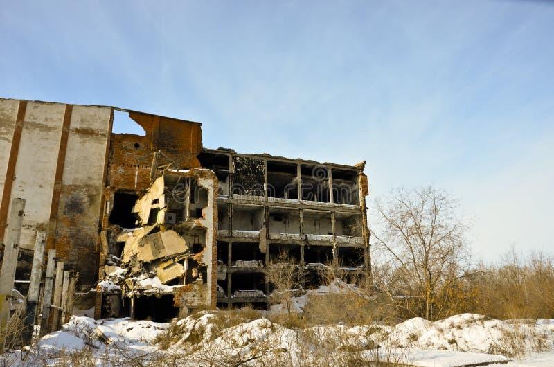 A fábrica destruída 4 imagem de stock royalty free