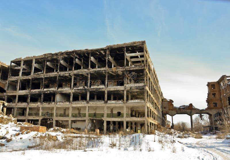 A fábrica destruída 6 fotos de stock royalty free