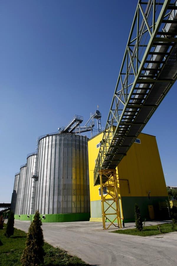 Fábrica do biodiesel foto de stock
