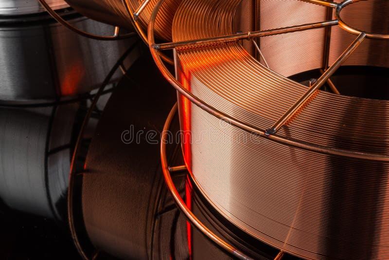 Fábrica do cabo de cobre foto de stock royalty free