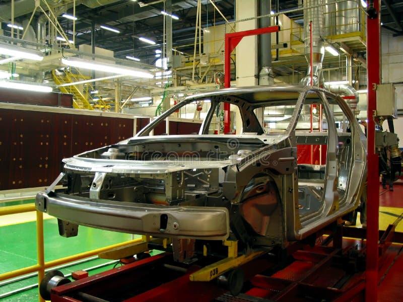 Fábrica do carro imagens de stock