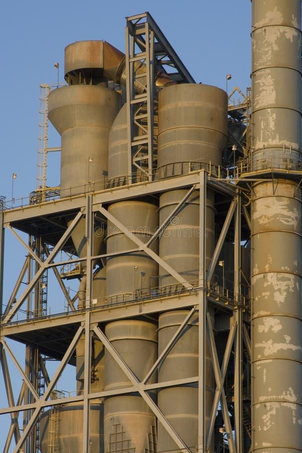 Fábrica do cimento de Texas fotografia de stock royalty free