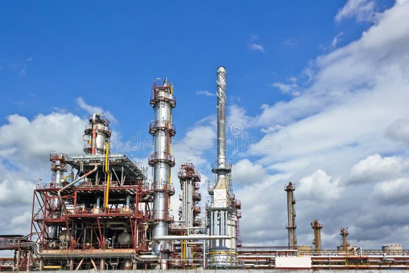Fábrica do produto químico e do petróleo fotos de stock