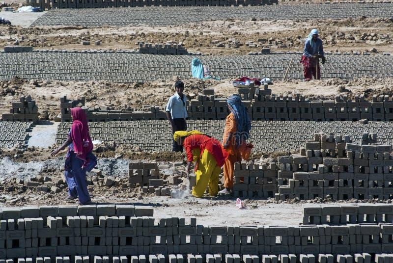 Fábrica do tijolo da Índia fotos de stock