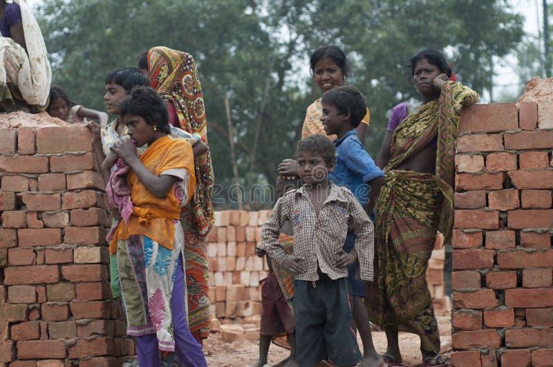 Fábrica do tijolo na Índia fotografia de stock royalty free