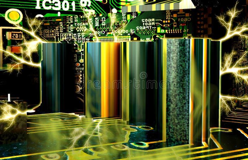 Fábrica electrónica japonesa fotografía de archivo