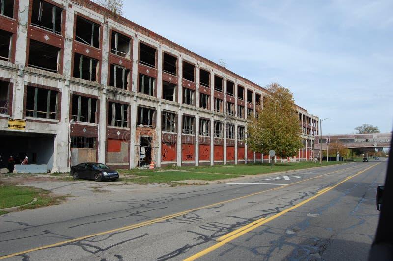 Fábrica em desuso e abandonada da planta de Packard que constrói Detroit Michigan EUA imagens de stock royalty free