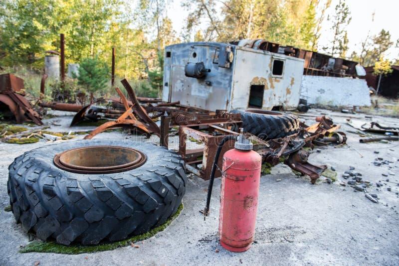 Fábrica en Pripyat imágenes de archivo libres de regalías