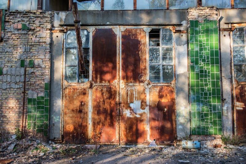 Fábrica en Pripyat imagen de archivo libre de regalías