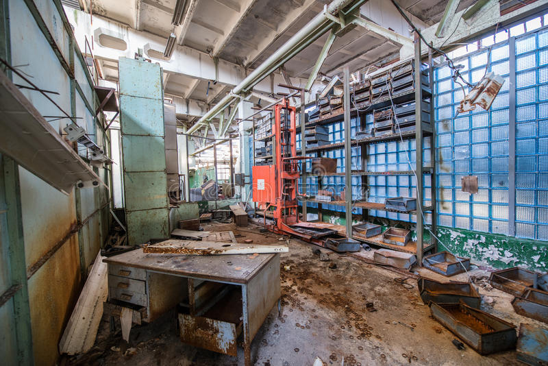 Fábrica en Pripyat imagen de archivo