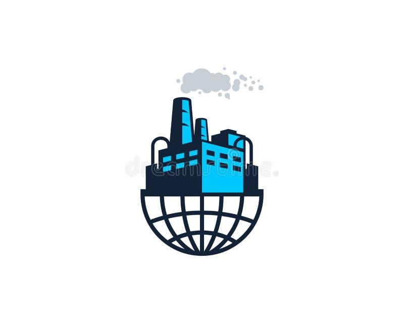 Fábrica Logo Icon Design de la tierra stock de ilustración