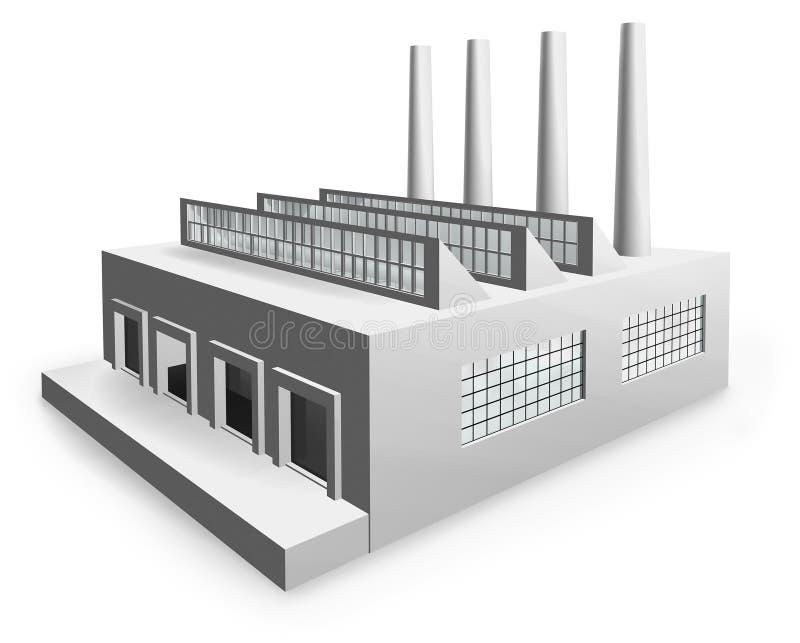 Fábrica modelo ilustración del vector