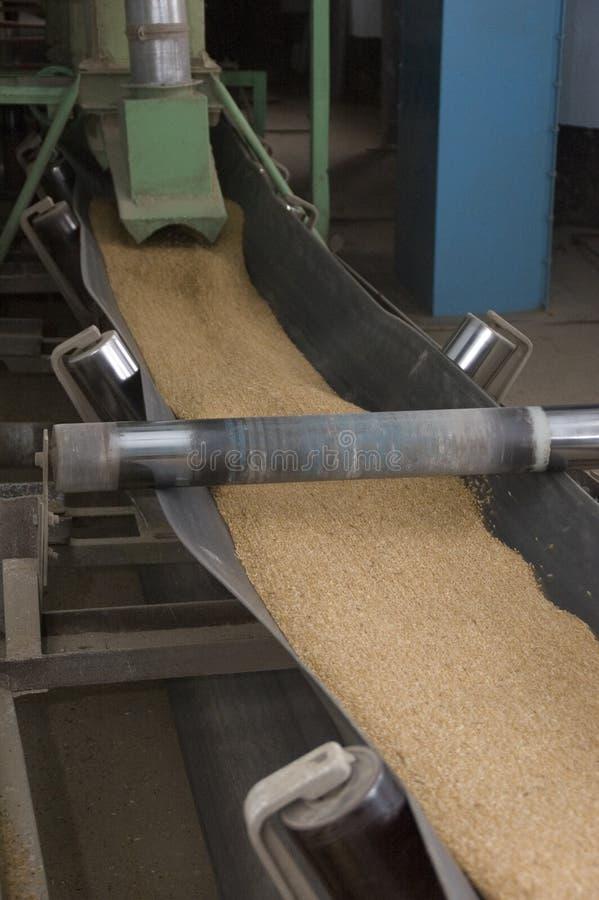 Fábrica na manufatura da farinha foto de stock