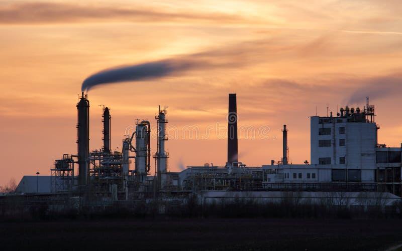 Fábrica, planta industrial imagens de stock royalty free