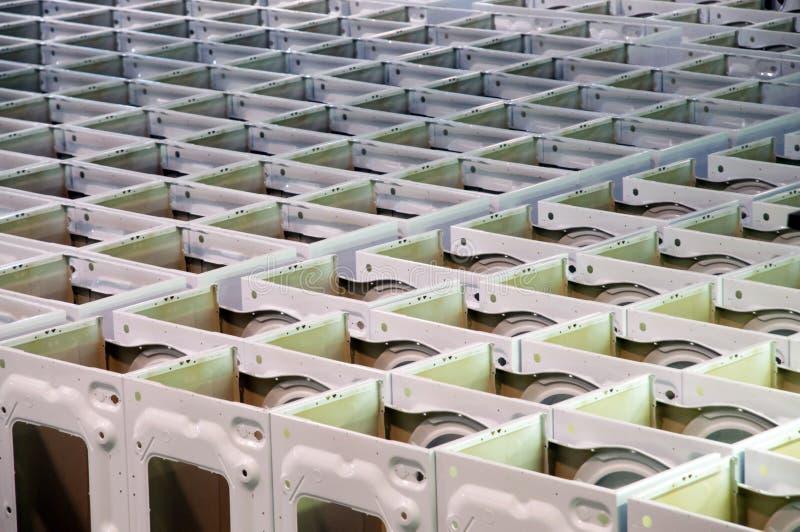 Fábrica: produção da máquina de lavar imagem de stock royalty free