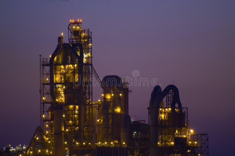 Fábrica química en el desierto Israel fotos de archivo