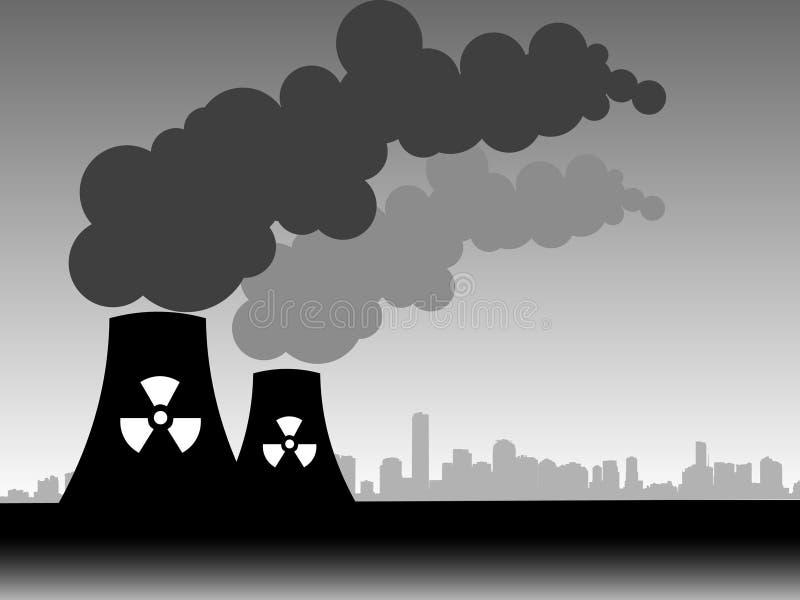 Fábrica que arrota para fora a poluição ilustração do vetor
