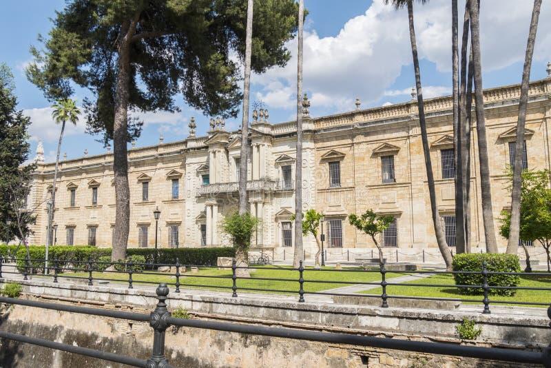 Fábrica real vieja del tabaco, universidad de Sevilla, ahora Sevilla fotografía de archivo libre de regalías