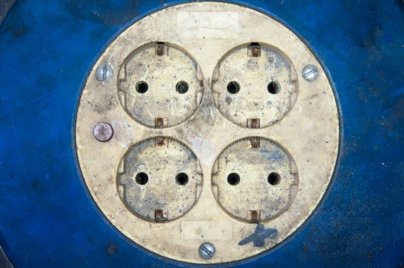Fábrica suja da energia elétrica dos soquetes fotos de stock