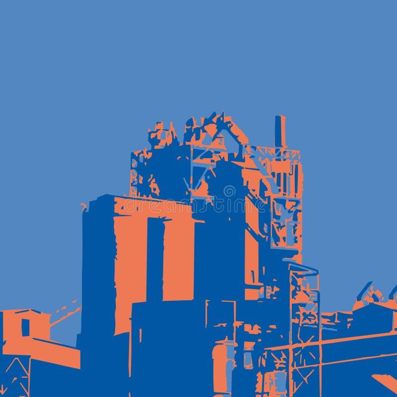 Fábrica (vector) libre illustration