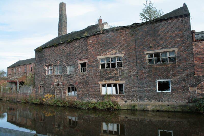 Fábrica velha da cerâmica dentro Avivar-em-Trent, Longport fotos de stock