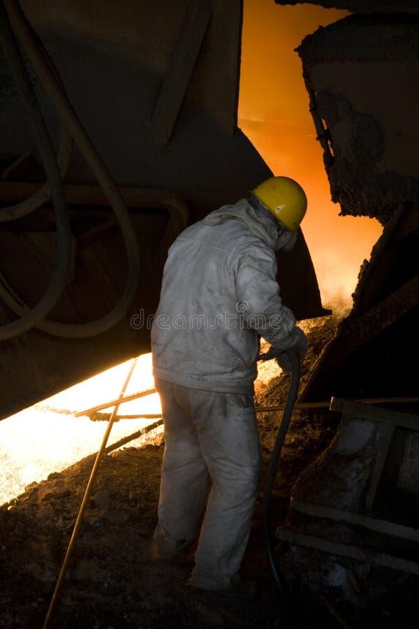 fábrica velha do ferro imagem de stock