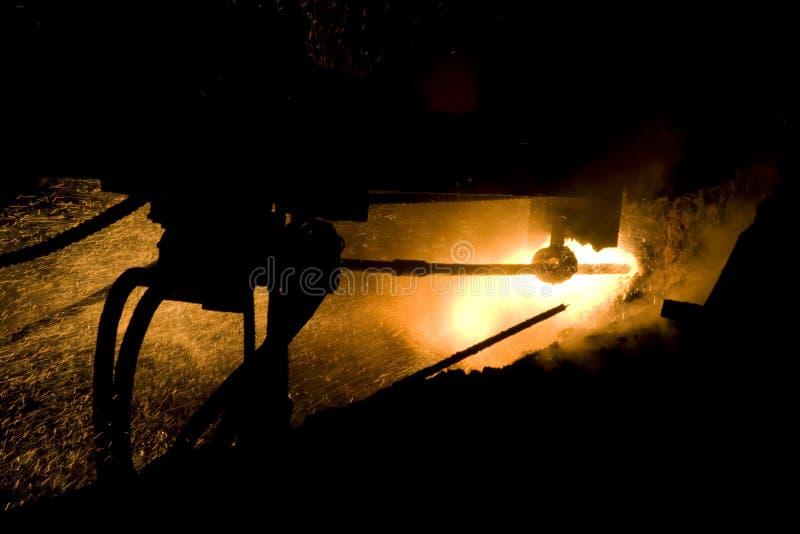 fábrica vieja del hierro imagen de archivo libre de regalías