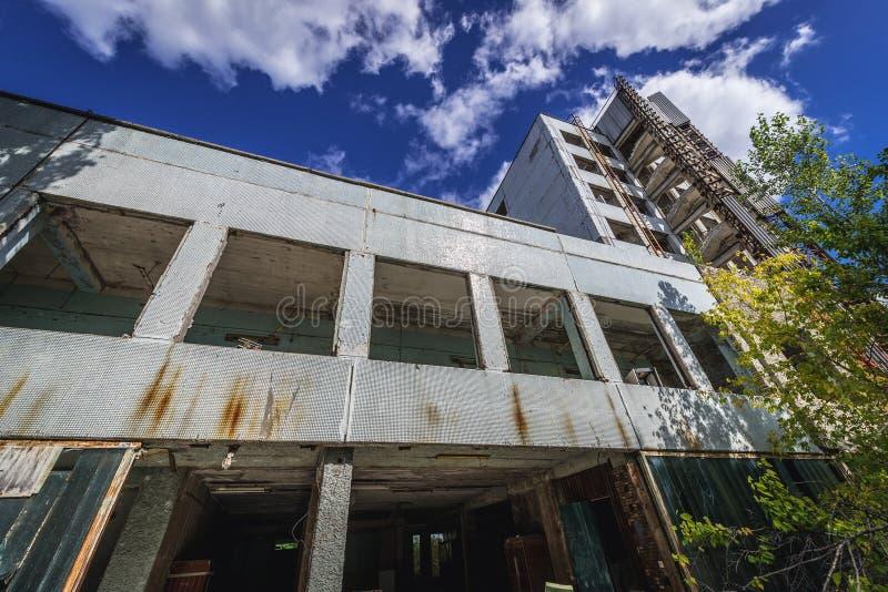 Fábrica vieja en la zona de Chernóbil foto de archivo libre de regalías