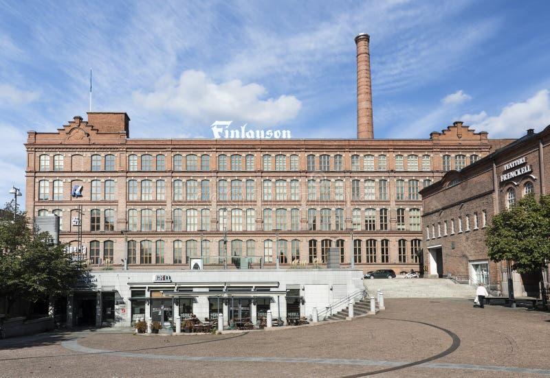 Fábrica vieja que construye Finlayson imagen de archivo libre de regalías