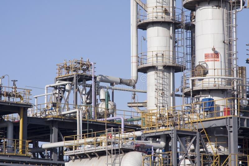 Fábrica y depósito químicos del petróleo, fotos de archivo libres de regalías