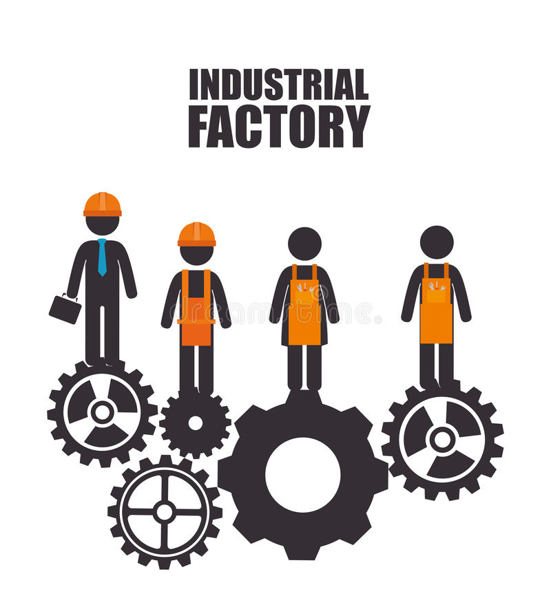 Fábrica y maquinaria de la industria ilustración del vector
