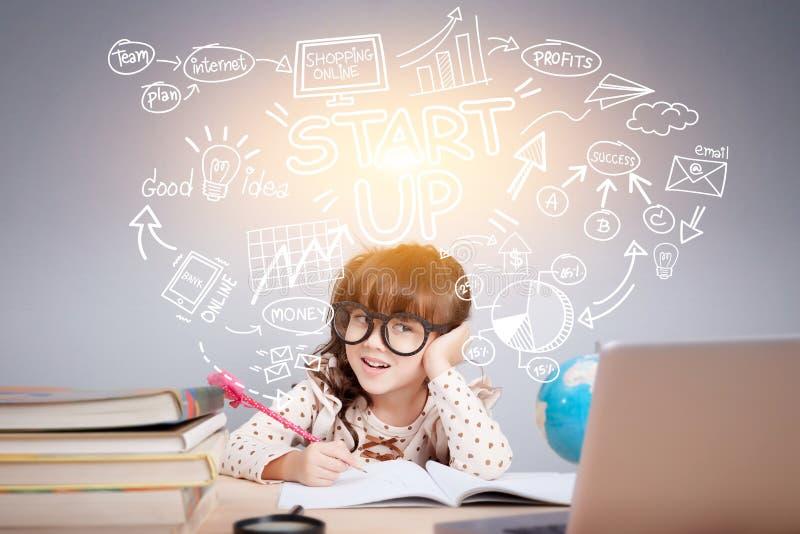 Fácil comece acima o conceito da gestão do planejador do negócio imagem de stock