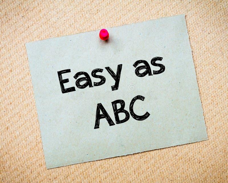 Fácil como ABC fotos de archivo libres de regalías