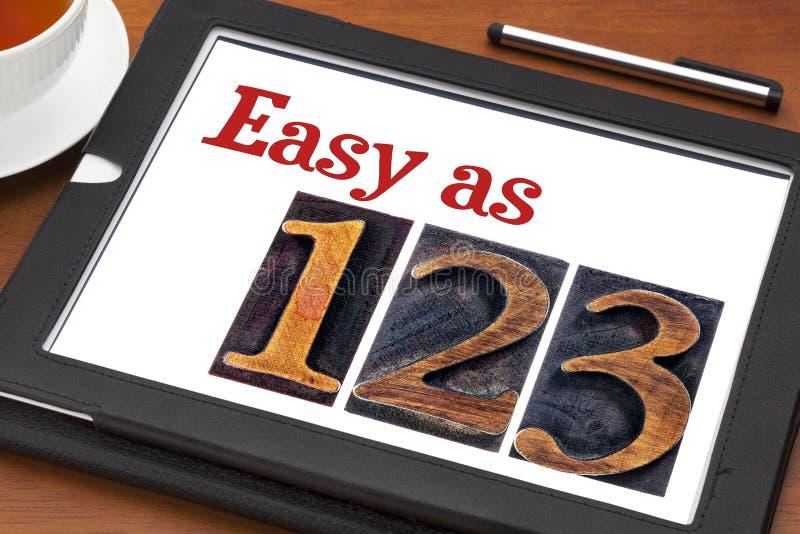 Fácil como 1, 2, conceito 3 imagens de stock royalty free