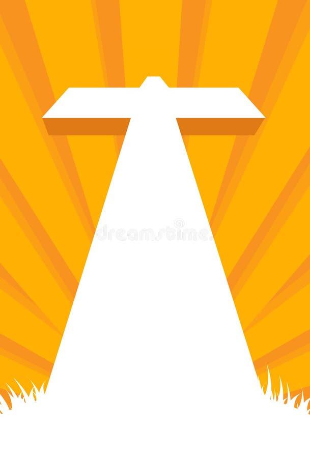 Cruz contra el cielo ilustración del vector