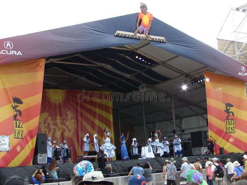 Fácil grande del jazz de New Orleans y del festival de la herencia foto de archivo libre de regalías