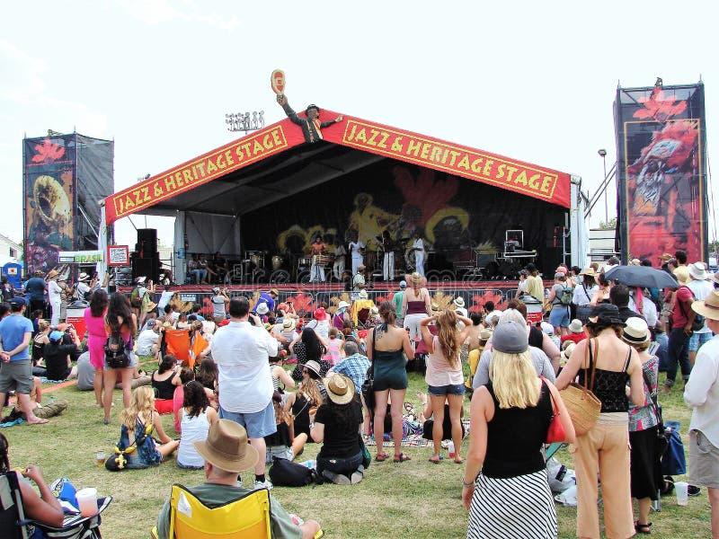 Fácil grande del jazz de New Orleans y del festival de la herencia fotografía de archivo libre de regalías