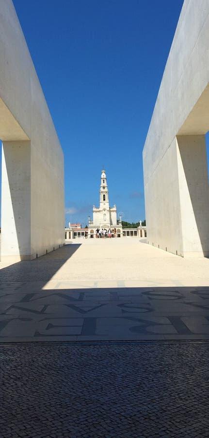 Fátima es una de las capillas católicas más importantes foto de archivo libre de regalías