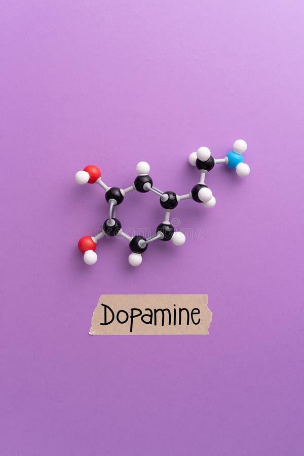 fórmula química de la dopamina foto de archivo libre de regalías