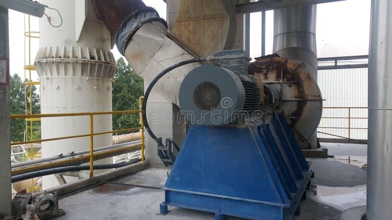 Fã bonde do motor e do gás de conduto do precipitador eletrostático fotos de stock