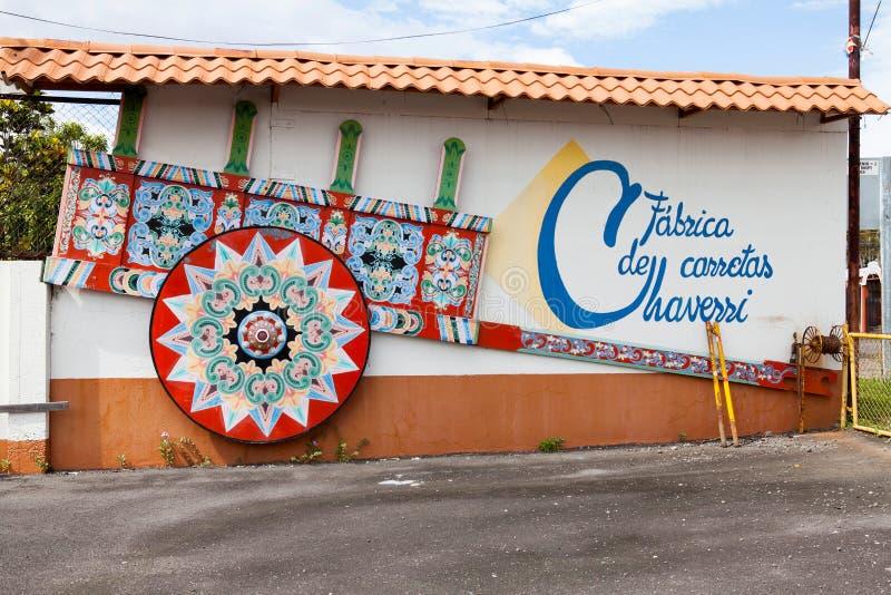 FÃ ¡ brica de Carretas JoaquÃn Chaverri, Sarchi/Κόστα Ρίκα στοκ εικόνες
