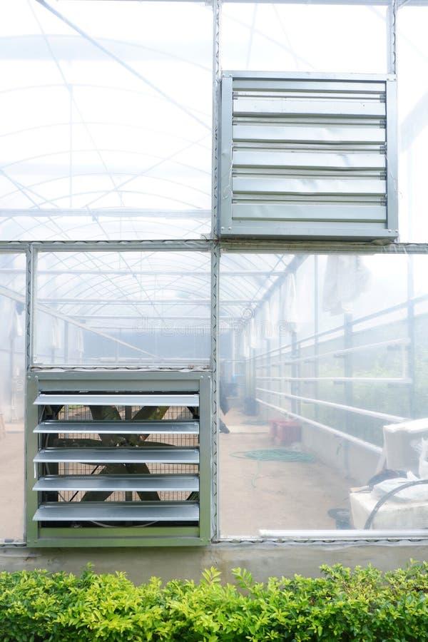 Fã no berçário agrícola da casa verde imagem de stock