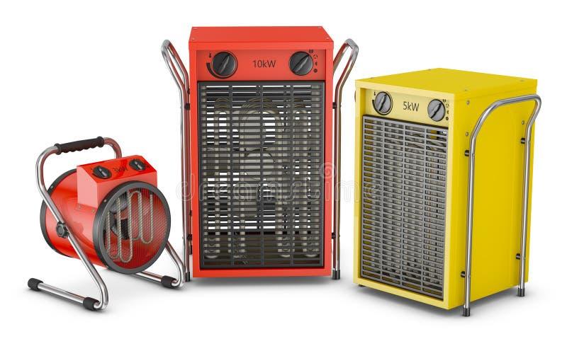 Fãs industriais do calor ilustração stock