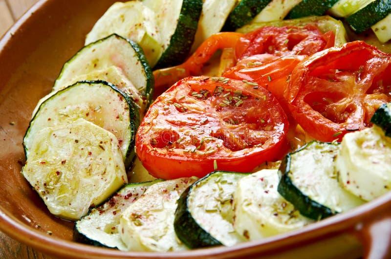 Fırında Kabak. Dizme.Turkish cuisine stock photos