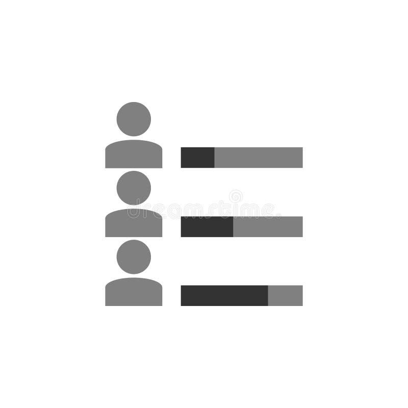 Fähigkeit, Fähigkeitsikone Element der vermarktenden Ikone für mobile Konzept und Netz Apps Ausführliche Fähigkeit, Fähigkeiten k lizenzfreie abbildung