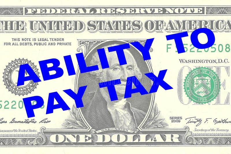 Fähigkeit, Steuerkonzept zu zahlen lizenzfreie abbildung