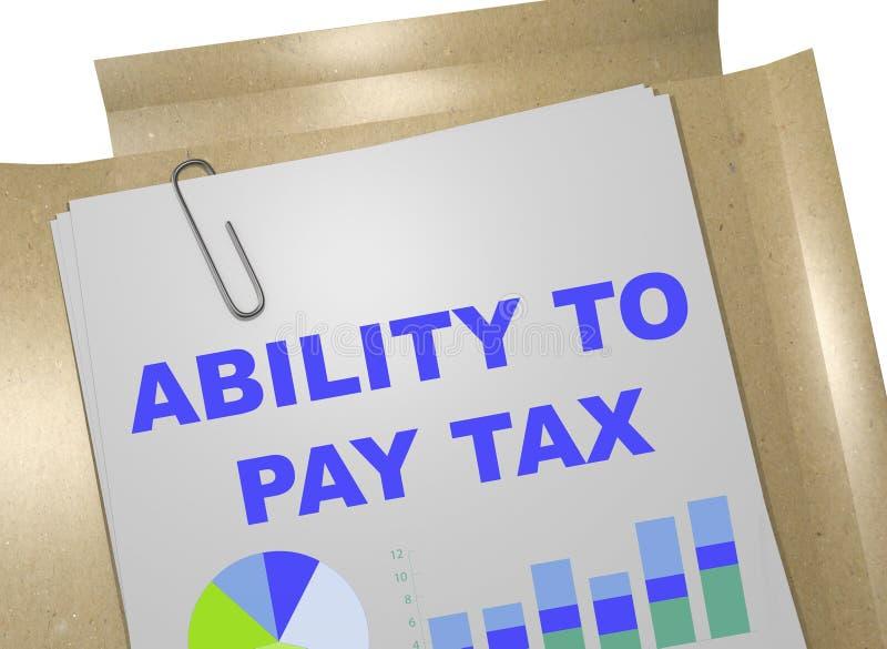 Fähigkeit, Steuerkonzept zu zahlen vektor abbildung