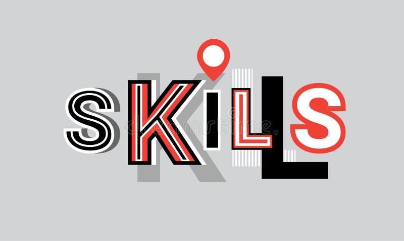 Fähigkeits-persönlicher Entwicklungs-Netz-Fahnen-Zusammenfassungs-Schablonen-Hintergrund lizenzfreie abbildung