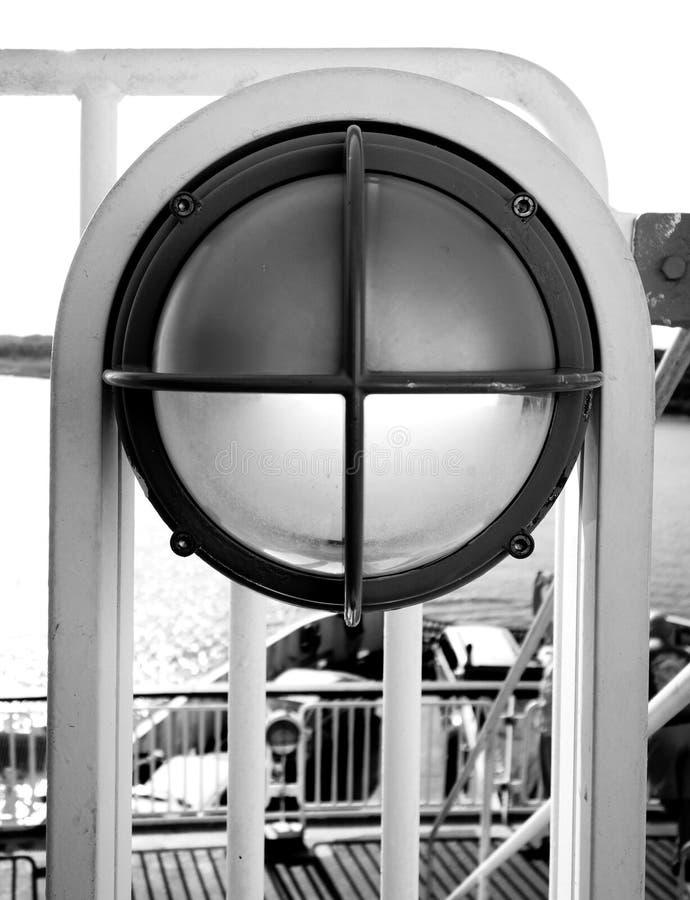 Fähren-Plattform-Licht stockfotografie